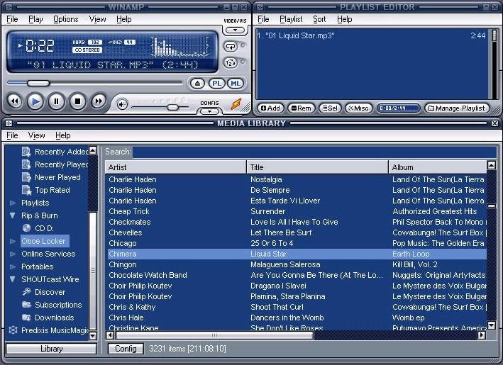 Winamp (Pemutar Musik MP3)
